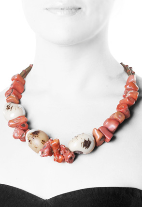 Coral Necklace by Chris Montgomery. Photography by Stan Sholik