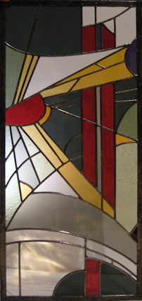 Stained Glass by Chris Montgomery. Photo by Stan Sholik